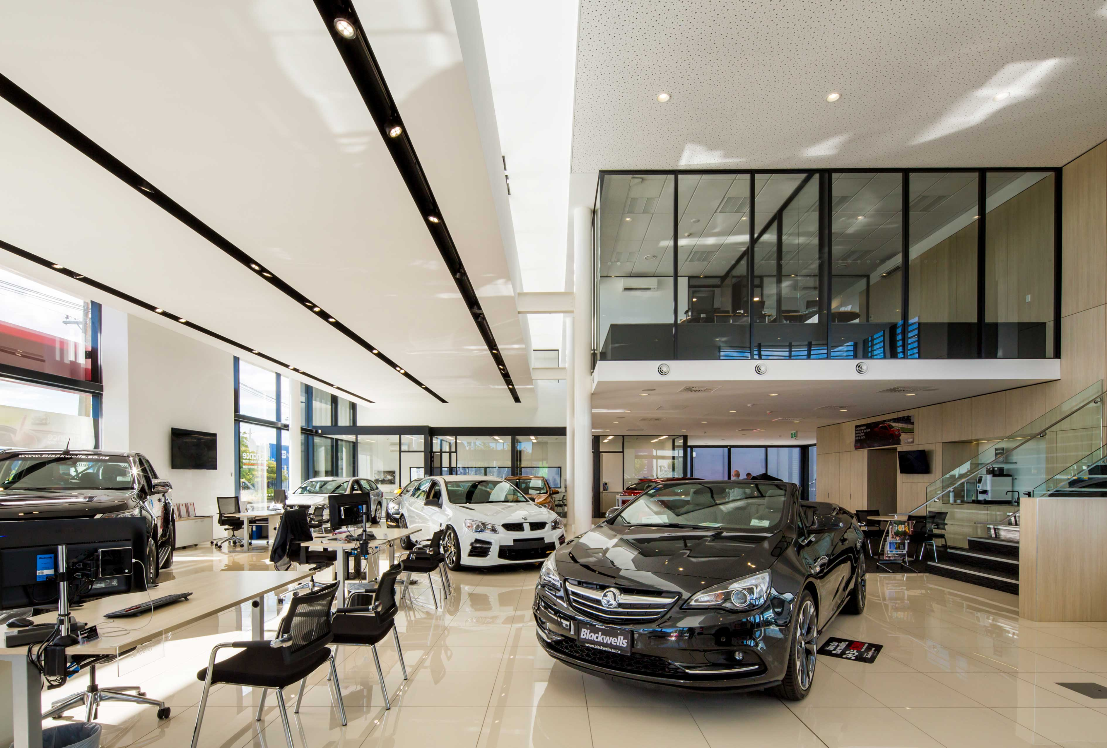 Blackwells Holden showroom interior